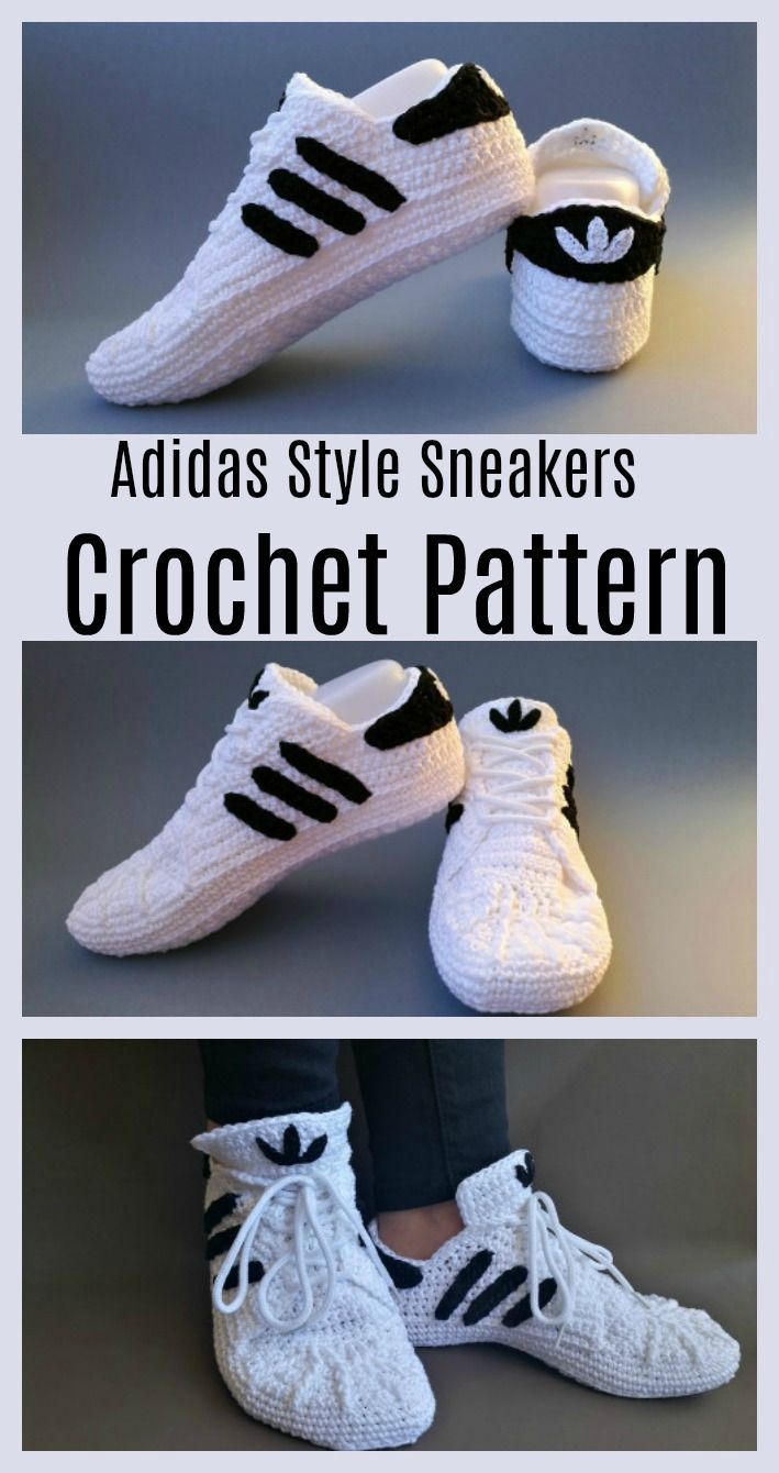 Crochet Adidas Sneakers – Free Pattern & Video Tutorial