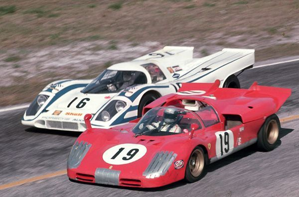 Mario Andretti in his factory Ferrari 512S side-by-side with Vic Elford in his Porsche… - https://www.luxury.guugles.com/mario-andretti-in-his-factory-ferrari-512s-side-by-side-with-vic-elford-in-his-porsche/