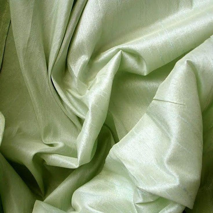 Pastel Green Art Silk Fabric By The Yard Silk Curtain Fabric Apparel Fabric Silk Dupioni Fabric Indian Silk Fabric By The Yard