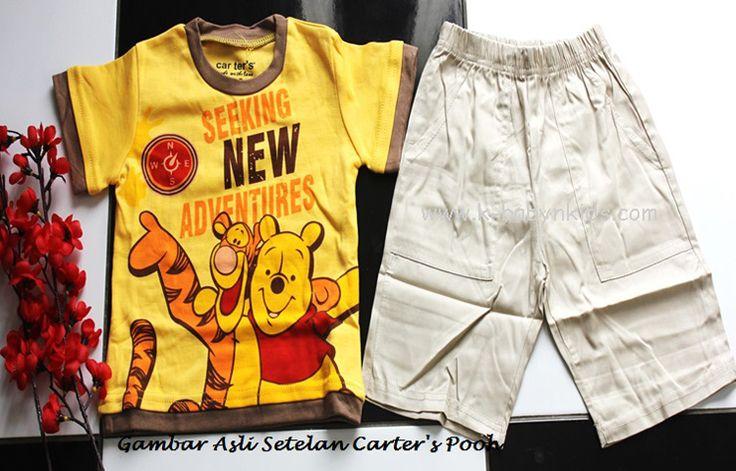 Setelan Carter's Pooh  Brand : Carter's Harga : Rp 70.000,-  ~Grosir Perlengkapan Bayi dan Anak Terbaik di Jakarta~ ONLINE Via Web : www.k-babynkids.com SMS ke 08170759660 BB ke 281341B0