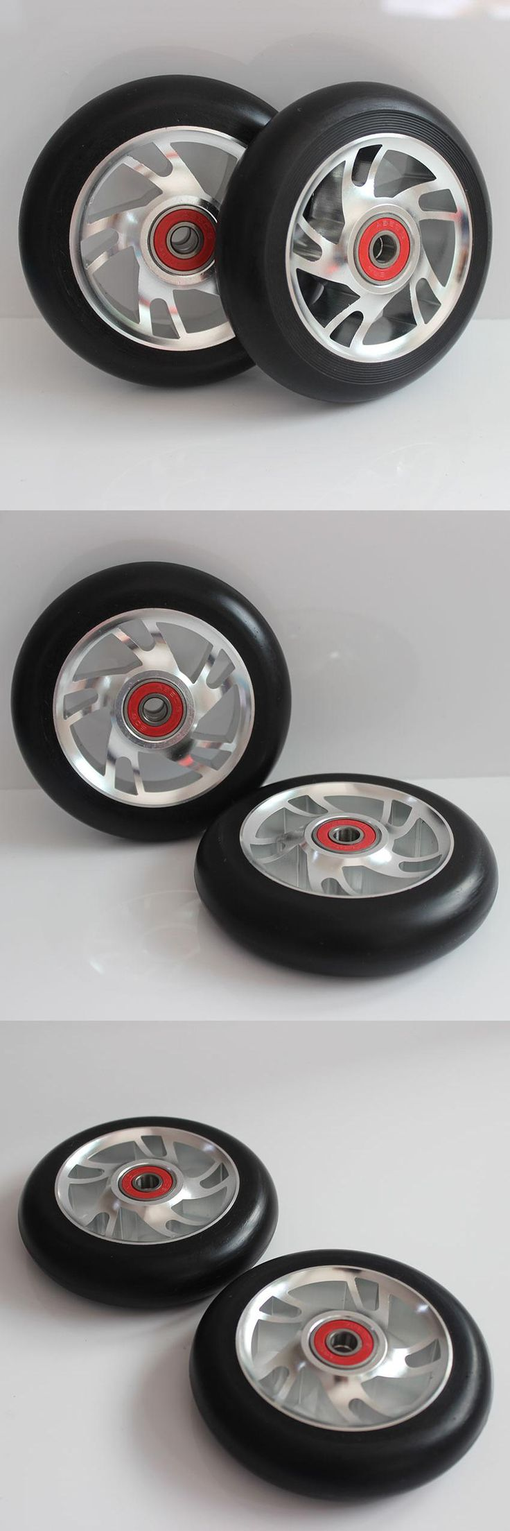 [Visit to Buy] Free shipping! Stunt scooter wheels / aluminum alloy wheels scooter sales 2PCS #Advertisement