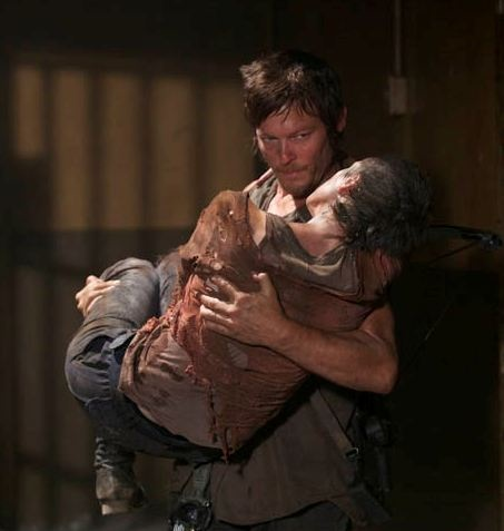 My favorite scene from The Walking Dead when Daryl finds Carol alive.