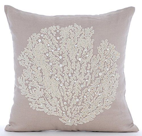 Mocha Throw Pillows Cover, Beaded Sea Weeds Sea Creatures... https://www.amazon.com/dp/B016H8TR70/ref=cm_sw_r_pi_dp_x_AQGFybCN4MCAE