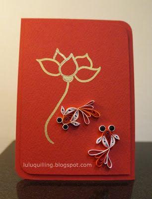 Happy Chinese New Year - Lotus and Goldfish!