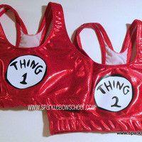 Thing 1 Thing 2  Metallic Sports Bra (@Mackenna Geary)
