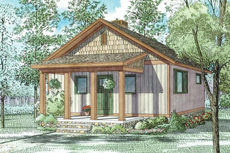 House plan 110 01038 this cute cottage house design is for Small weekend cabin plans