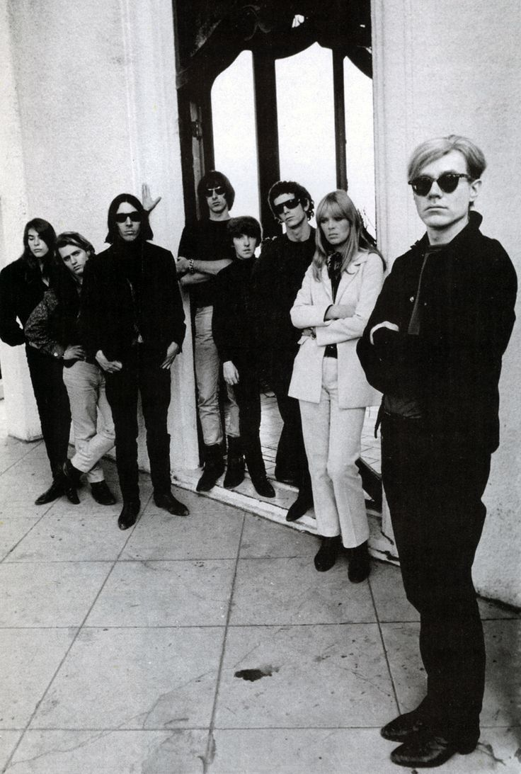 Velvet Underground, with Andy Warhol in the foreground