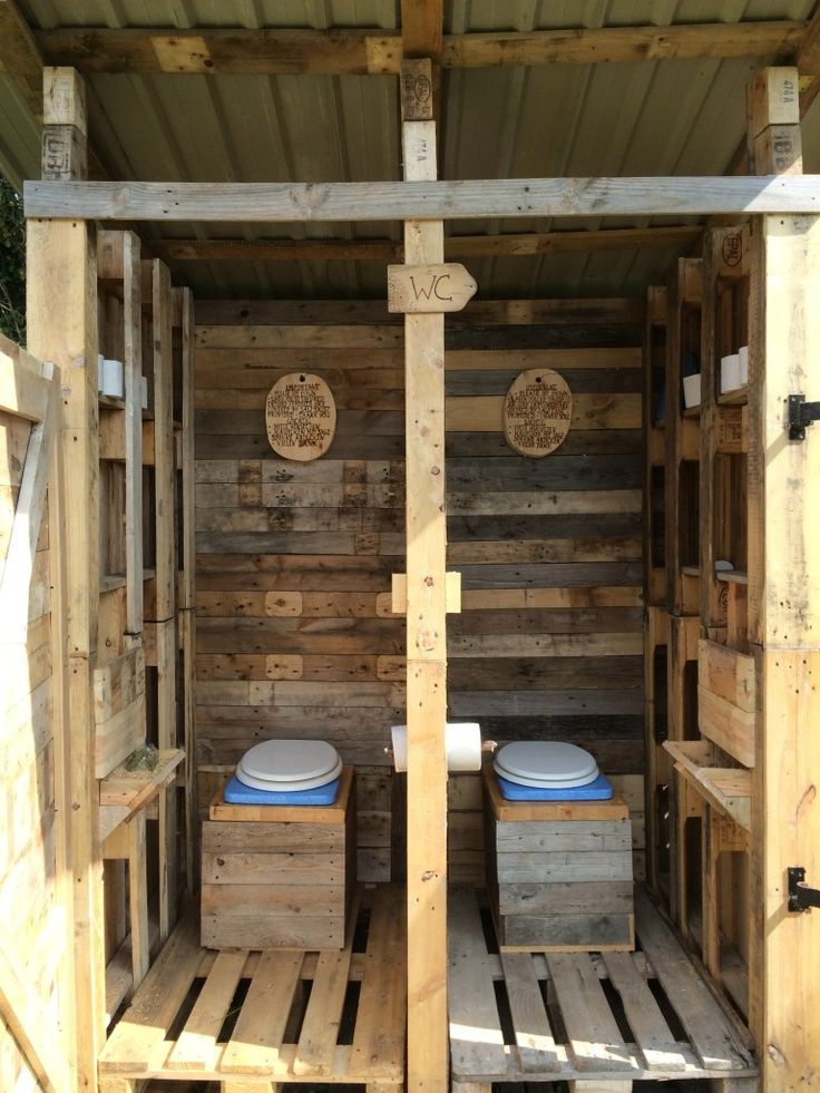 Compost toilet made by pallet Diy wood pallet projects