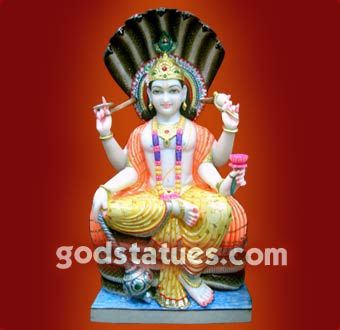 Lord Vishnu On Sheshnag One of the Hindu trinity of Brahma, Vishnu and Mahesh (Shiva)  #hindu #god #statue #handicraft