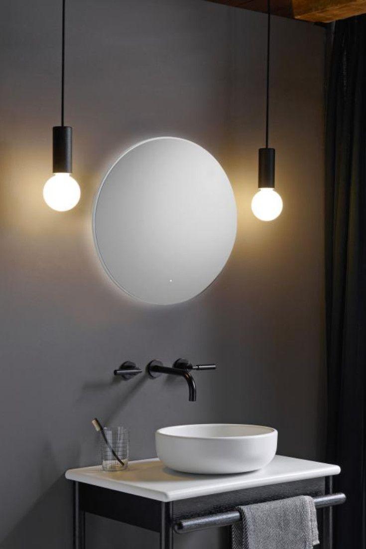 Badspiegel Moon Rund Mit Bildern Badspiegel Badezimmerspiegel