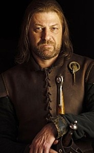 Sean Bean ~ Ned Stark--I love sean bean. He always plays these type of roles.He was the most honorable King.So it is OFF with your head.