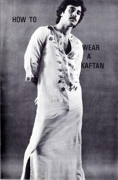 How to wear a kaftan.  Should be self-explanatory  oliver Wasow   saved to   Fashion    How to wear a kaftan
