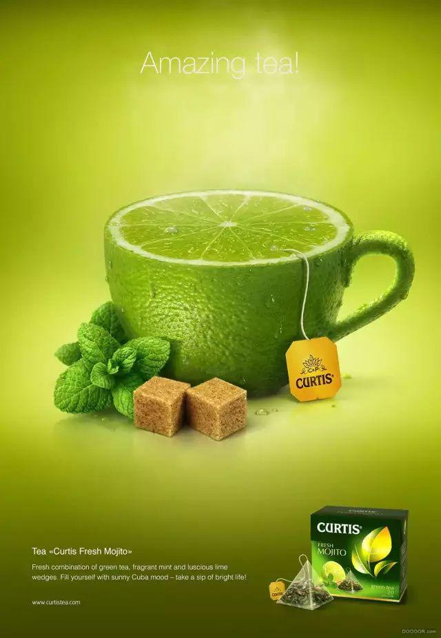 真正美味水果茶系列创意海报设计