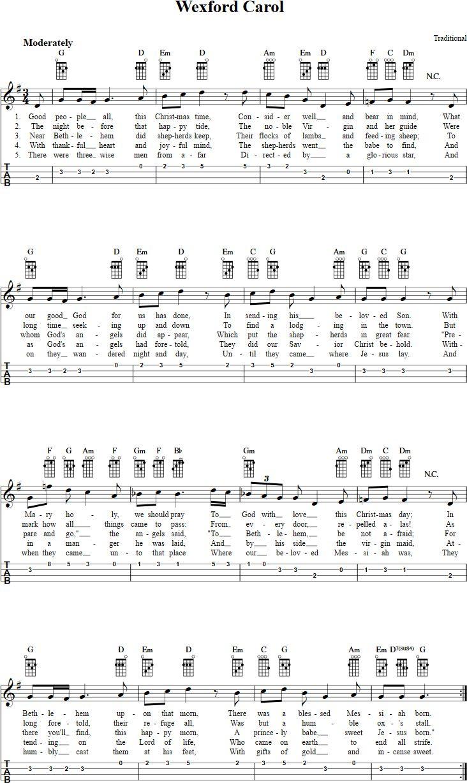 103 best christmas tabs images on pinterest christmas carol wexford carol ukulele tab hexwebz Gallery