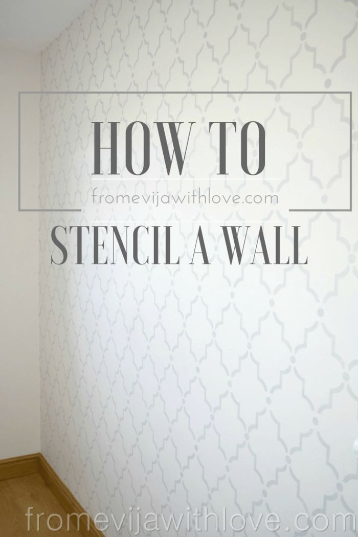 How to Stencil a Wall - Beginners Guide - From Evija with Love. DIY Tutorial on how to do Marrakech Trellis wall Stencil