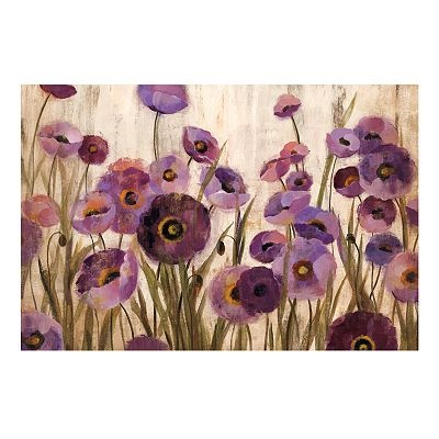 Pink And Purple Floral Wall Decor Home Sweet Home