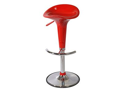 Tabouret de bar rouge - PUMP - Tabouret - 496791