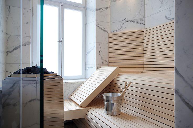 Marmordröm i badrummet med bastu - Badrumsdrömmar