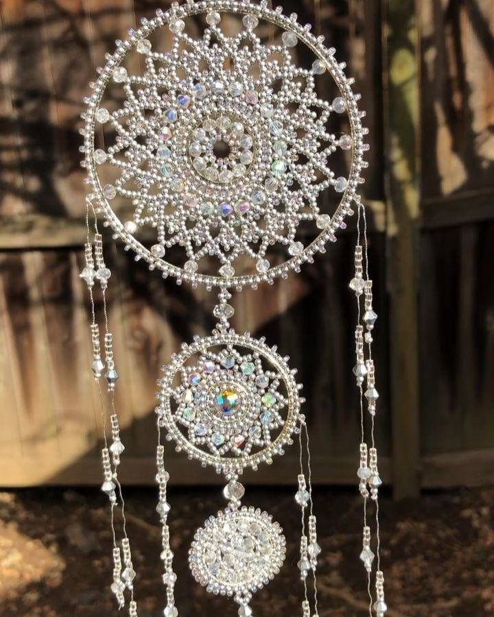 40b962f2fc My new silver Dream catcher with clear Swarovski crystals is ready, I will  make it available at my Etsy shop soon #dreamcatcher…