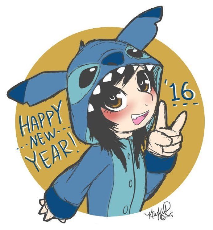 My Last Drawing Of 2015 I Have A Stitch Onesie Kigurumi Coming In