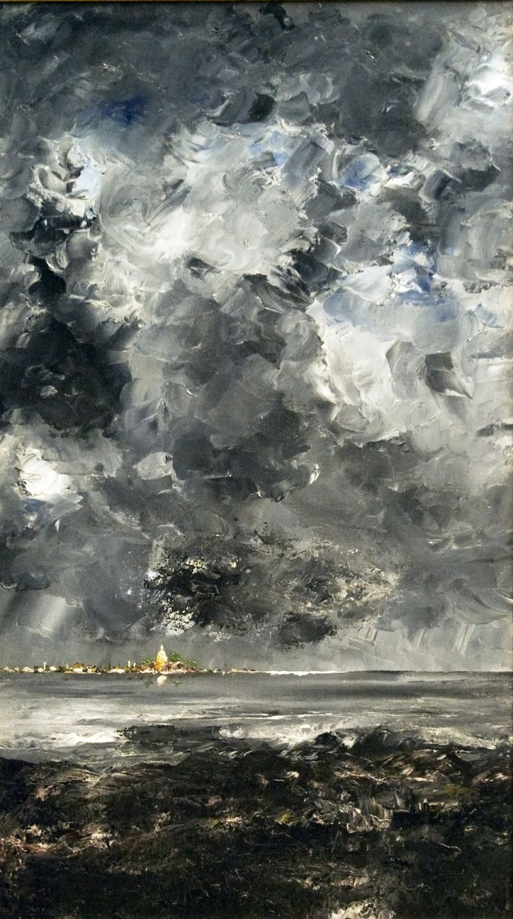 August Strindberg aka Johan August Strindberg (Swedish, 1849-1912, b. Stockholm, Sweden) - Staden (The Town), 1903 Paintings: Oil on Canvas