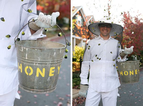 Honey buckets and make play beekeeper hats with gauze.