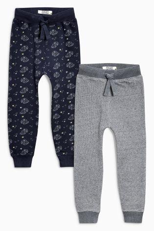Купить Две пары спортивных брюк (темно-синие, серые) (3 мес.-6 лет) Купить онлайн прямо сейчас на Next: Украина
