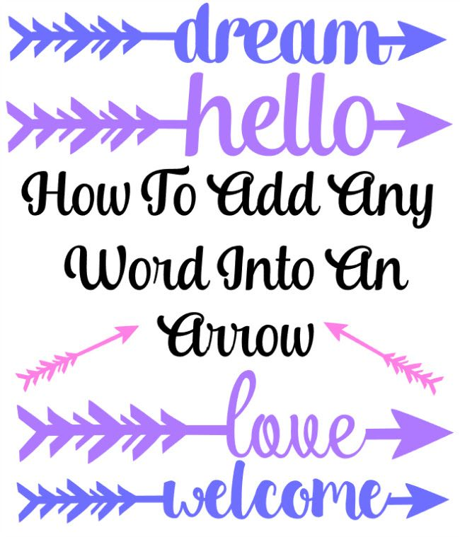 How to Add Any Word to an Arrow in Silhouette Studio