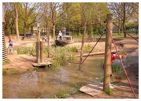 Adventure Playground, Eindhoven, Netherlands A large, lightly supervised site where the children are free to roam.