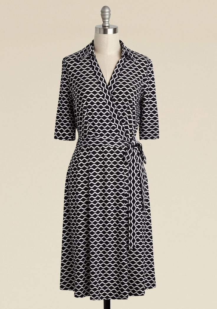 Prestigious Pedagog Wrap Dress, @ModCloth