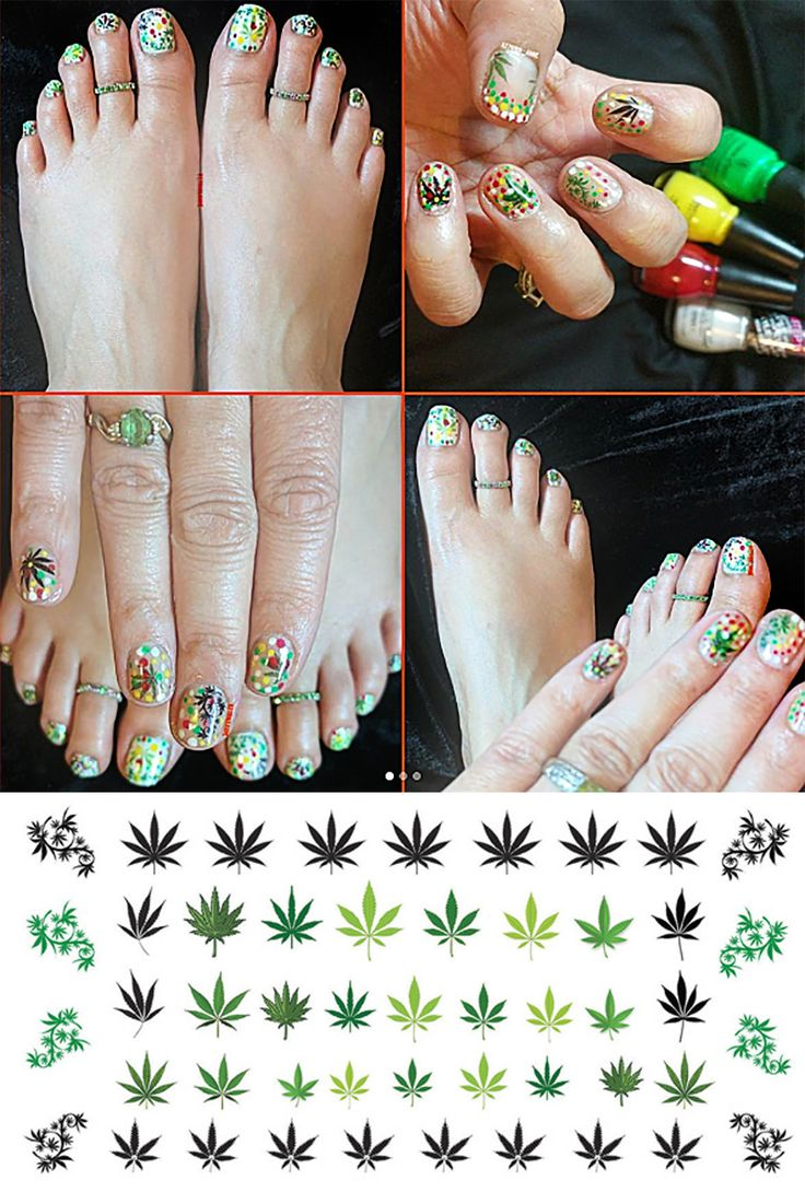 26 best Hippie Marijuana Nail Art Decals images on Pinterest | Nail ...