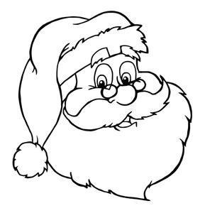 Cara de Papa Noel para colorear - 6 pasos (con imágenes)                                                                                                                                                      Más