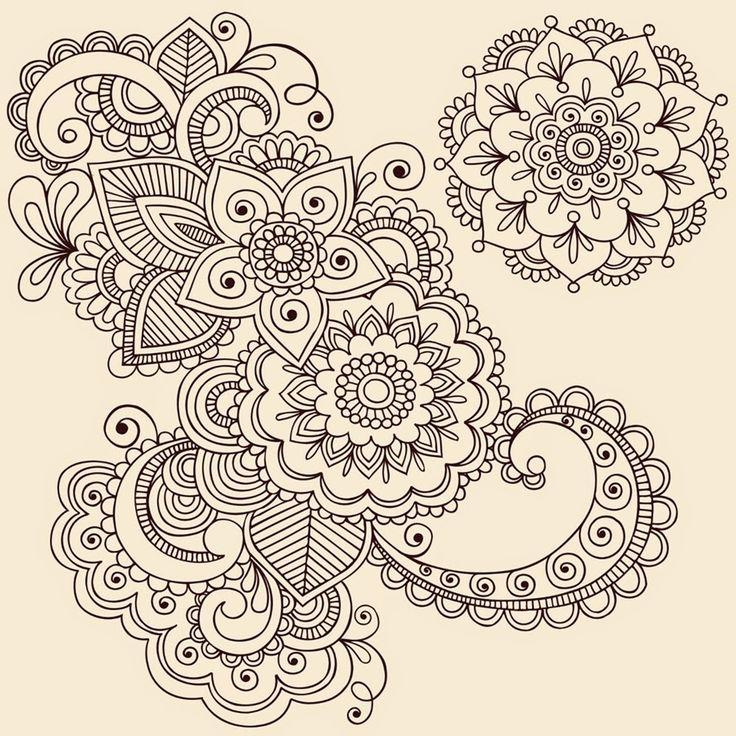 Mandalas Para Pintar: Flor de Otoño