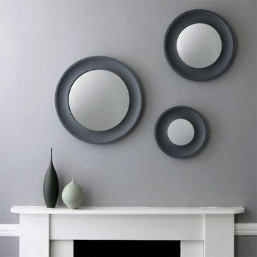 Portloe Mirror, Charcoal Grey
