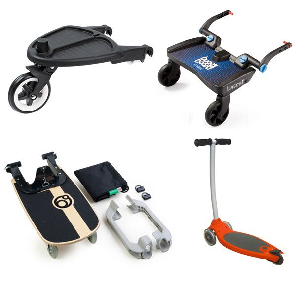 So these are AWESOME attachments for older kids to have a place to stand on their siblings strollers when they get tired. Stroller_wheeled_boards