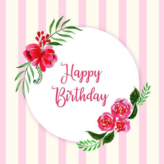 Watercolor Floral Happy Birthday Frame Background Watercolor Color Floral Png And Vector With Transparent Background For Free Download Happy Birthday Frame Happy Birthday Floral Birthday Frames