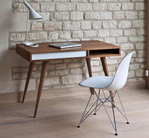 Modern Schreibtisch / Holz / integrierter Stauraum CELINE by Nazanin Kamali case