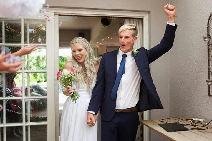 #silver #hair #bride #wedding #garden #husband #youngandmarried