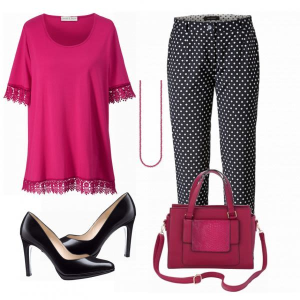 Große Größen Outfits: Ghappy Pink bei FrauenOutfits.de #mode #damenmode #frau…