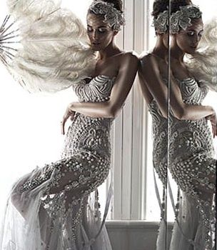 1920's Gatsby glamour! www.modemadeleine.com, #deartopshop, dream holiday party, magical, moodboard