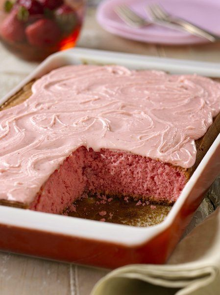 Lizzie's Strawberry Cake by Trisha Yearwood... my Mom has made this and said it is absolutely delicious - just make sure the butter is really softened (not melted) for the icing. Can't wait to try this.