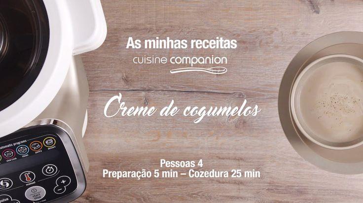 Veja como é fácil fazer um cremoso Creme de Cogumelos no robot Cuisine Companion!