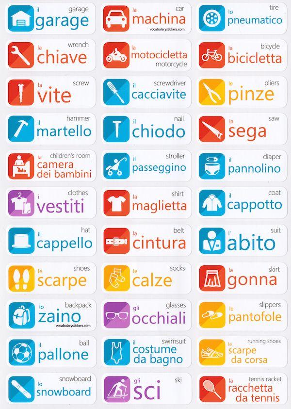 Italian Language Stickers