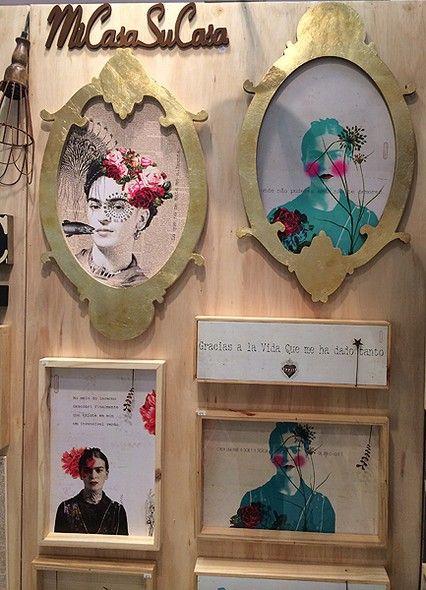 Muita Frida Kahlo no estande da Mercatto Casa