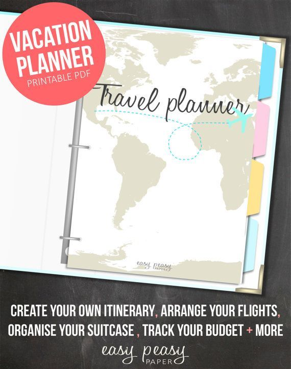 Vacation Planner Printable by EasyPeasyPaper on Etsy