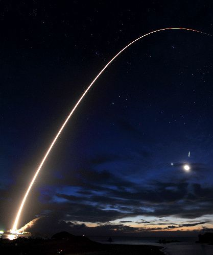 Launch of H2B rocket in Kagoshima, Japan.