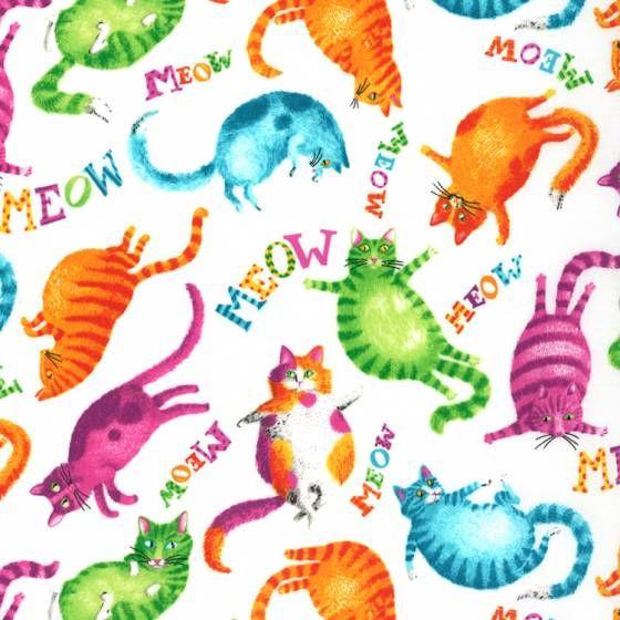 Ткань с котами 100% хлопок • ТКАНИ ДЛЯ ПЭЧВОРКА • Купить ткань в интернет-магазине ВСЕ ТКАНИ • Онлайн-КАТАЛОГ ТКАНЕЙ