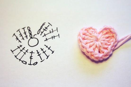 Crochet Heart - Free pattern Más
