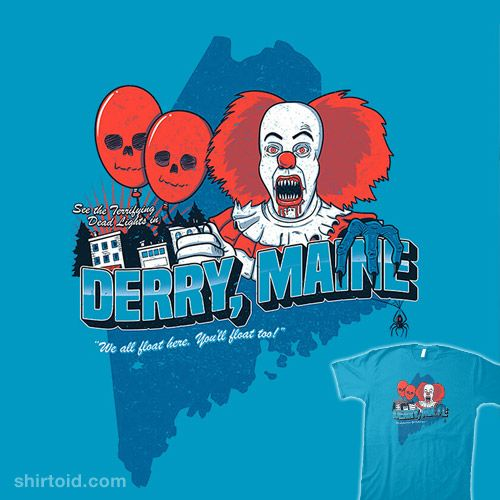 Visit Derry, Maine #alexpawlicki #apsketches #book #clown #film #horror #it #movie #pennywise #postcard #stephenking