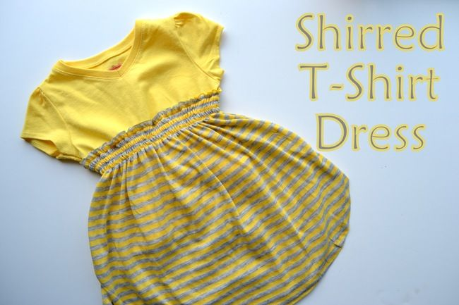 Easy Toddler's Shirred T-shirt Dress: Tutorial--For @Crystal Nombrano-Johnston, to make for the girls!
